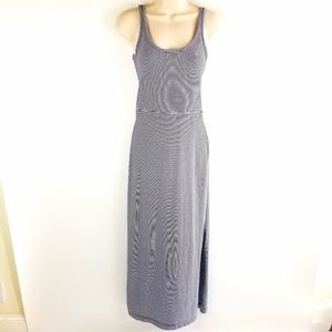 Womens GAP Blue and White Long Sleeveless Dress